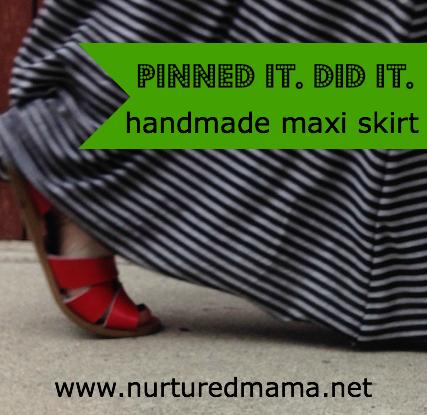 Handmade Maxi Skirt - Pinned It. Did It. :: www.nurturedmama.net