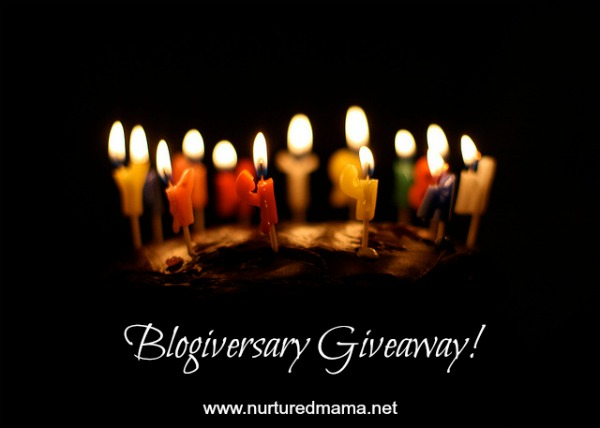 To celebrate the 2nd anniversary of Nurtured Mama, I'm giving something away (I kind of like this tradition!).