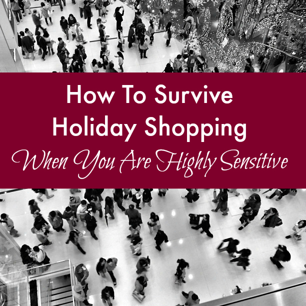Does going shopping during the holiday season stress you out? How to Survive Holiday Shopping When You Are Highly Sensitive shares 6 tips to make the experience a little easier :: Sorta Crunchy