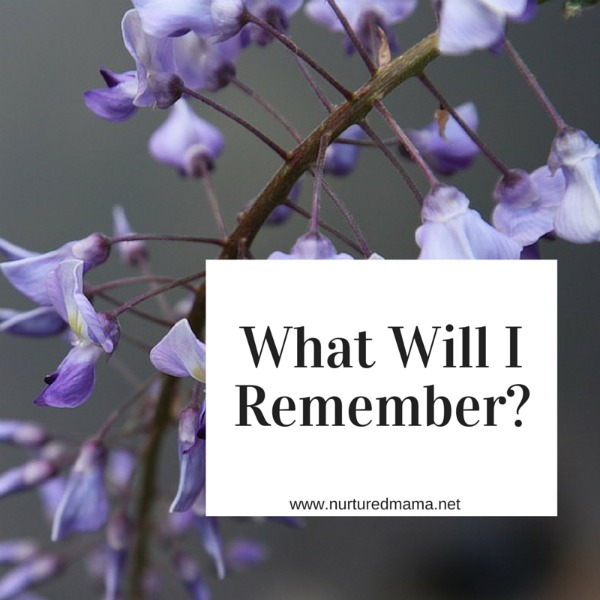 What will I remember from these years, this moment? The hard or the beautiful? Will I remember it when I need it most? :: www.nurturedmama.net