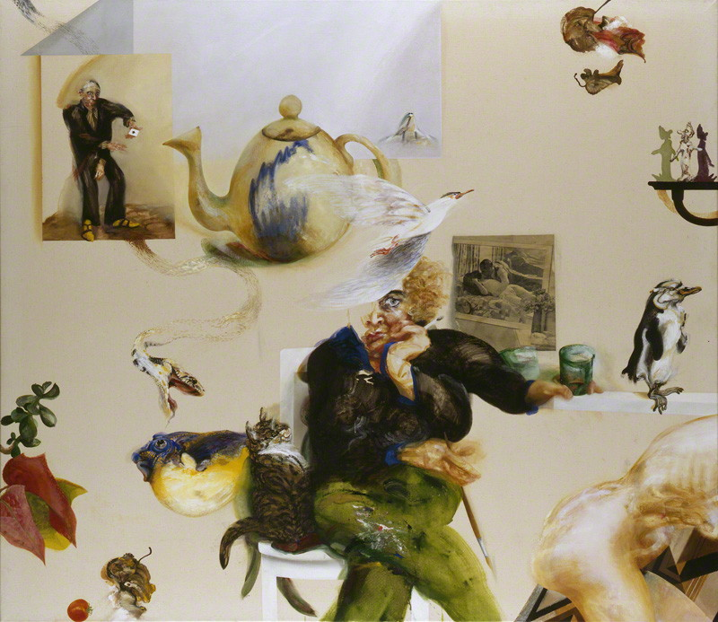 by Maggi Hambling, oil on canvas, 1977-1978