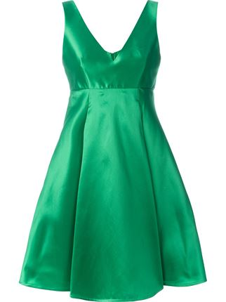 P.A.R.O.S.H Flared Pleat Dress