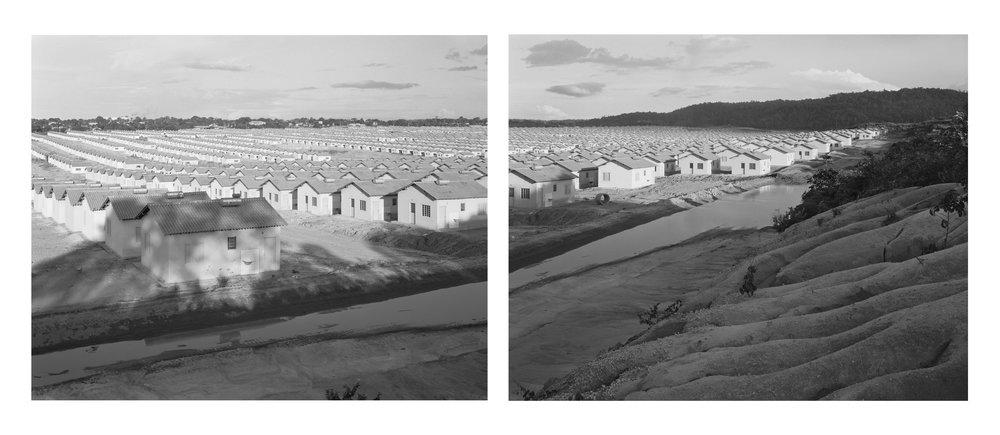 Brazil's multi-billion dollar Minha Casa, Minha Vida (My House, My Life) housing program at the confluence of the Tapajós and Amazon Rivers No. 1 & No.2, May, 2014, Santarém, Pará, Brazil. 2014/2018