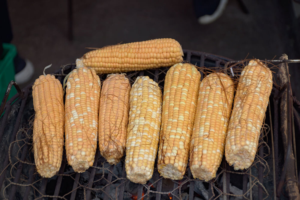 Roasted corn is also a staple on the menu.