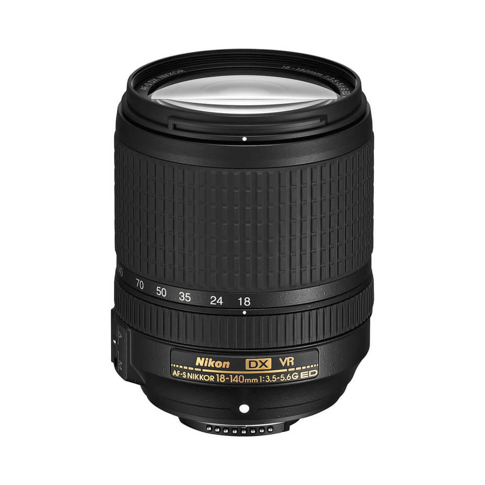 Nikon 18-140mm f/3.5-5.6 - This is actually a kits lens but it is better than the standard 18-55mm kit lens, because of the extended focal range and overall sharpness.
