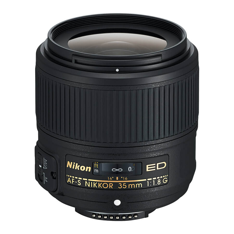 Nikon 35mm f/1.8 - This is a beautiful lens. The perspective is true to life and the optics are good. It's a sharp lens. Use it for environmental portraits and casual shooting.