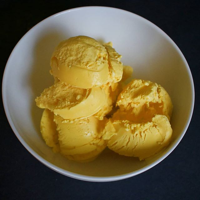We're ready for Mango Season. Ripe Mango Ice Cream coming soon.  Vibrant, aromatic, bursting with mango flavor. ☀️ #mango #icecream #icecreamwalla