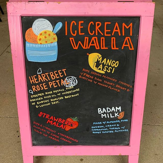 🌞 🍦head over to Ponce City Market this weekend. @botiwalla has the food, ice cream and chalk art game on point. #handcrafted #icecreamwalla