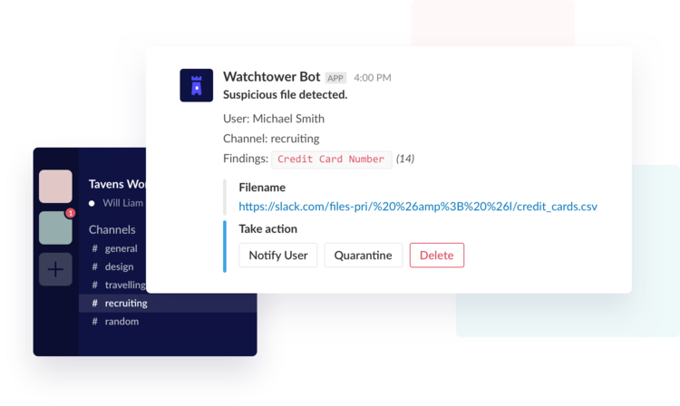 Watchtower simplifies and automates Slack DLP for Periscope