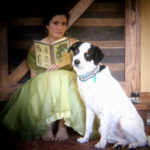 my muse and my studio companion. Diana's muses: Annalee, her daughter, and Tucker, her trusty border collie.