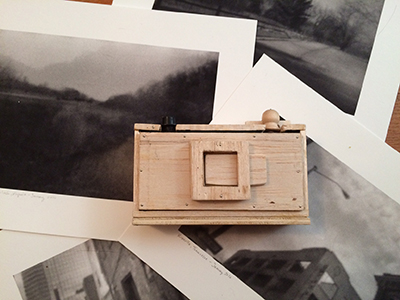 L.S. King's DIY 35mm camera and some of her images from that camera.