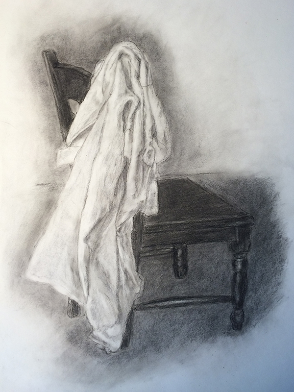 Fabric drawing study after using the hypnosis audio.