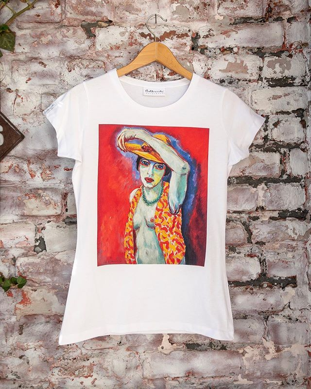 On sale this week! T-shirt made of pure Pima cotton with a handmade print of the painting 'Nu au Chapeau' by Wolfgang Beltracchi. . . . #beltracchi #tshirt #rebelwithlove #art #fashion #design