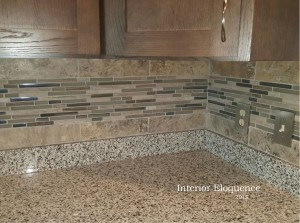 Back splash detail contemporary kitchen