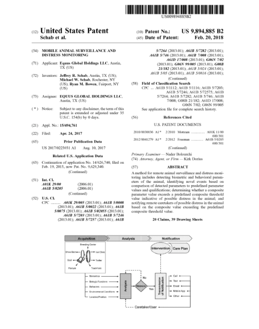 US patent no. 9,894,885