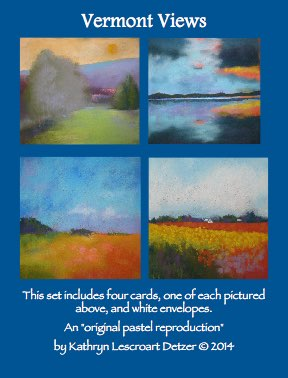 Vermont views - notecards - Set includes 4 notecards, blank inside and four envelopes.$10