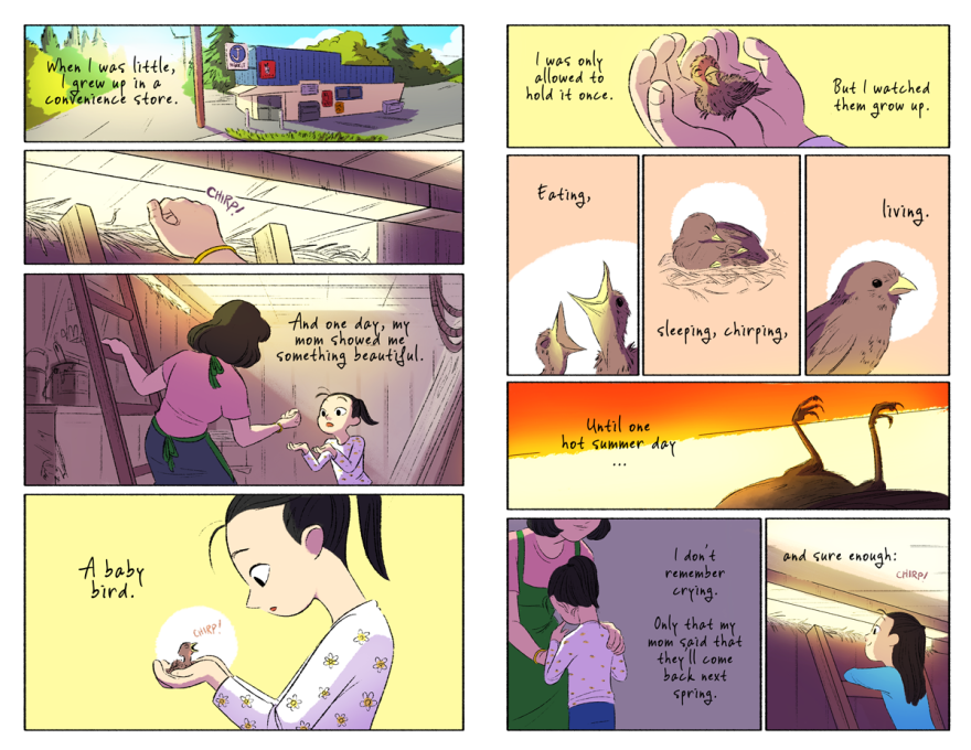 Comic for the Happy/Sad zine. Curated by Janet Sung.