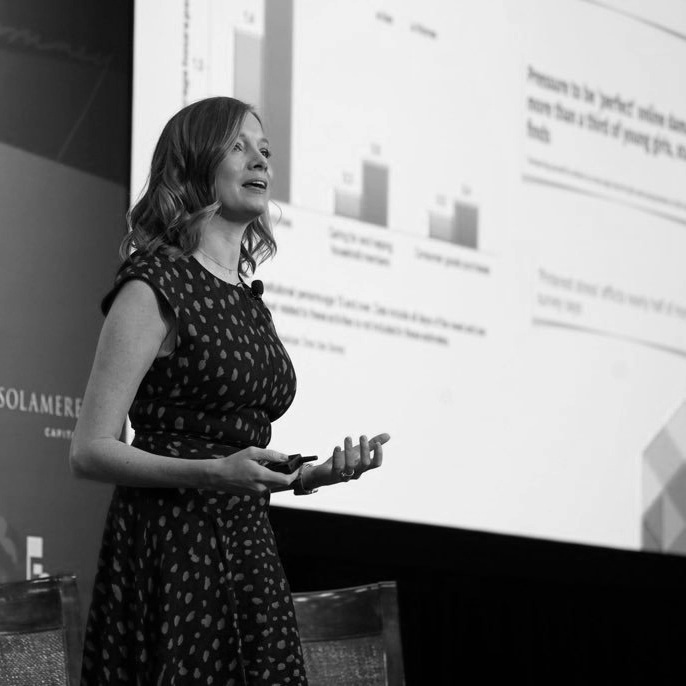 Kristen speaks to executives and political leaders at Mitt Romney's E2 Summit in Park City, 2018 about Millennials' political attitudes and the gender gaps within the generation.