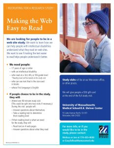 Easy to Read Study Flyer