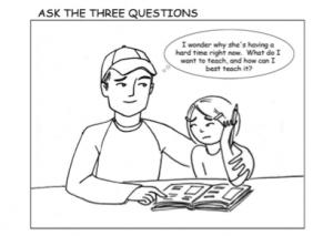 cartoon sketch of parent and child