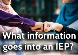 What information goes into an IEP