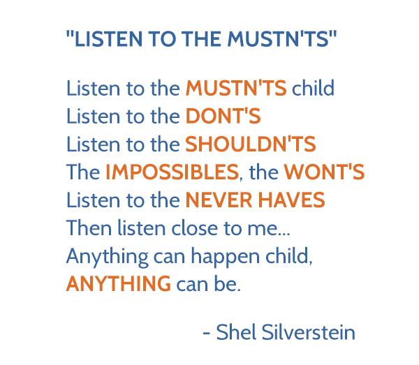 Listen to the Mustn'ts Poem by Shel Silverstein