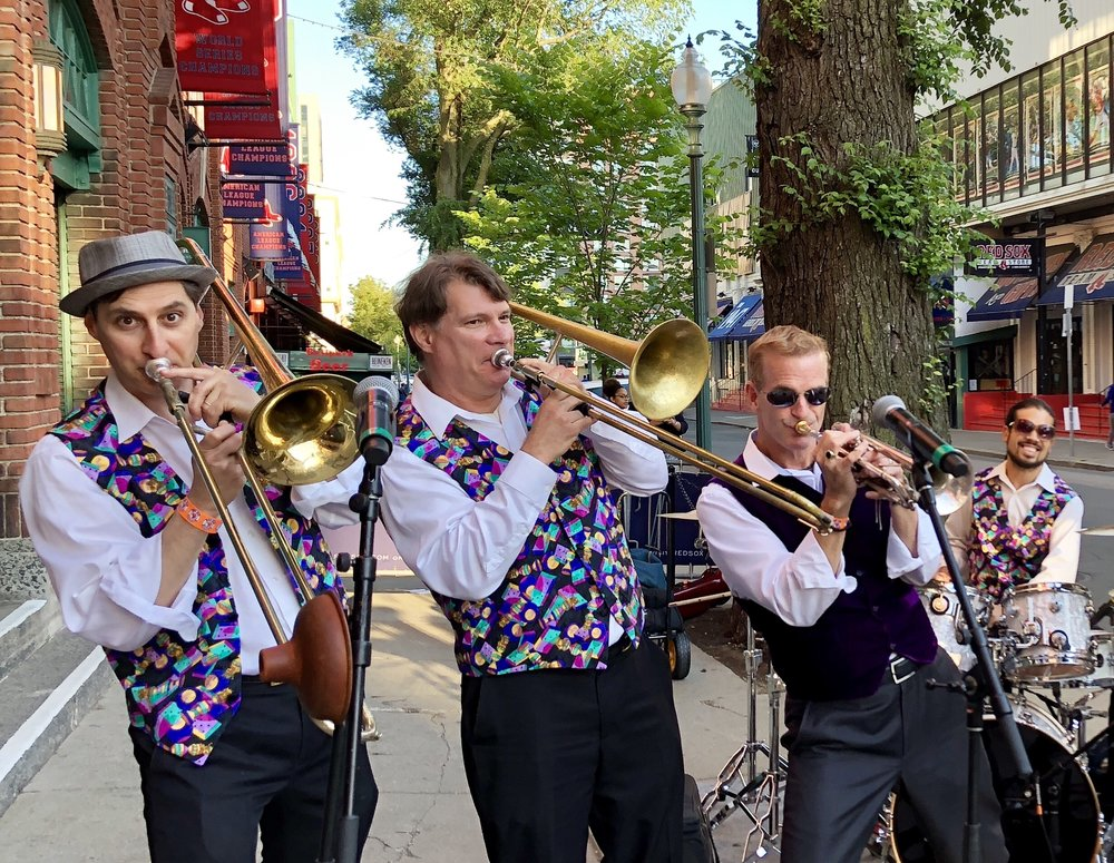 Dixieland Cavaliers performing at Fenway Park Boston