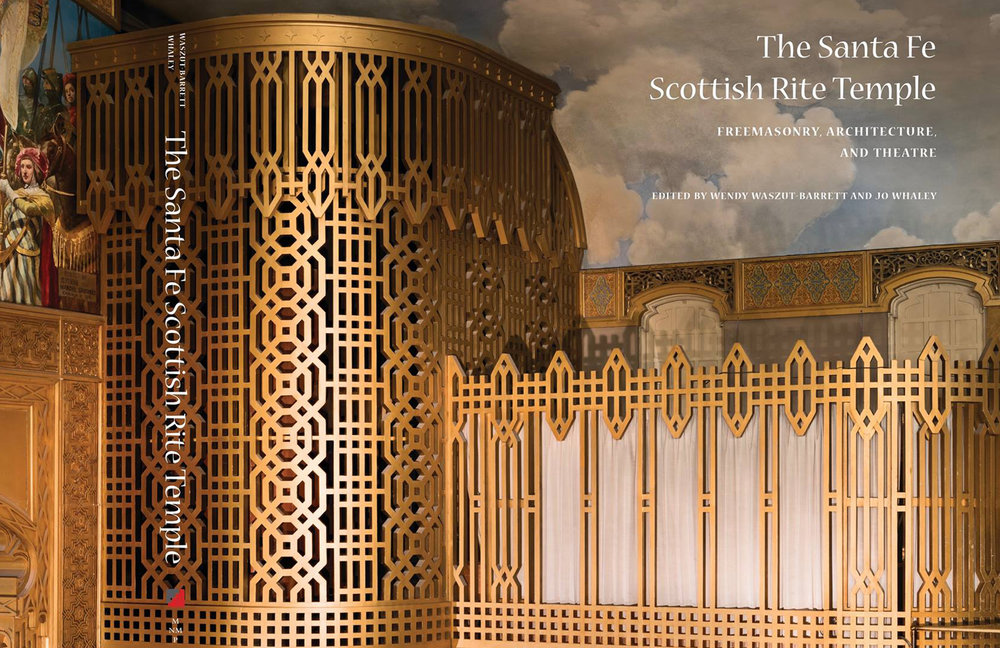 The Cover of  The Santa Fe Scottish Rite Temple  from the Museum of New Mexico Press