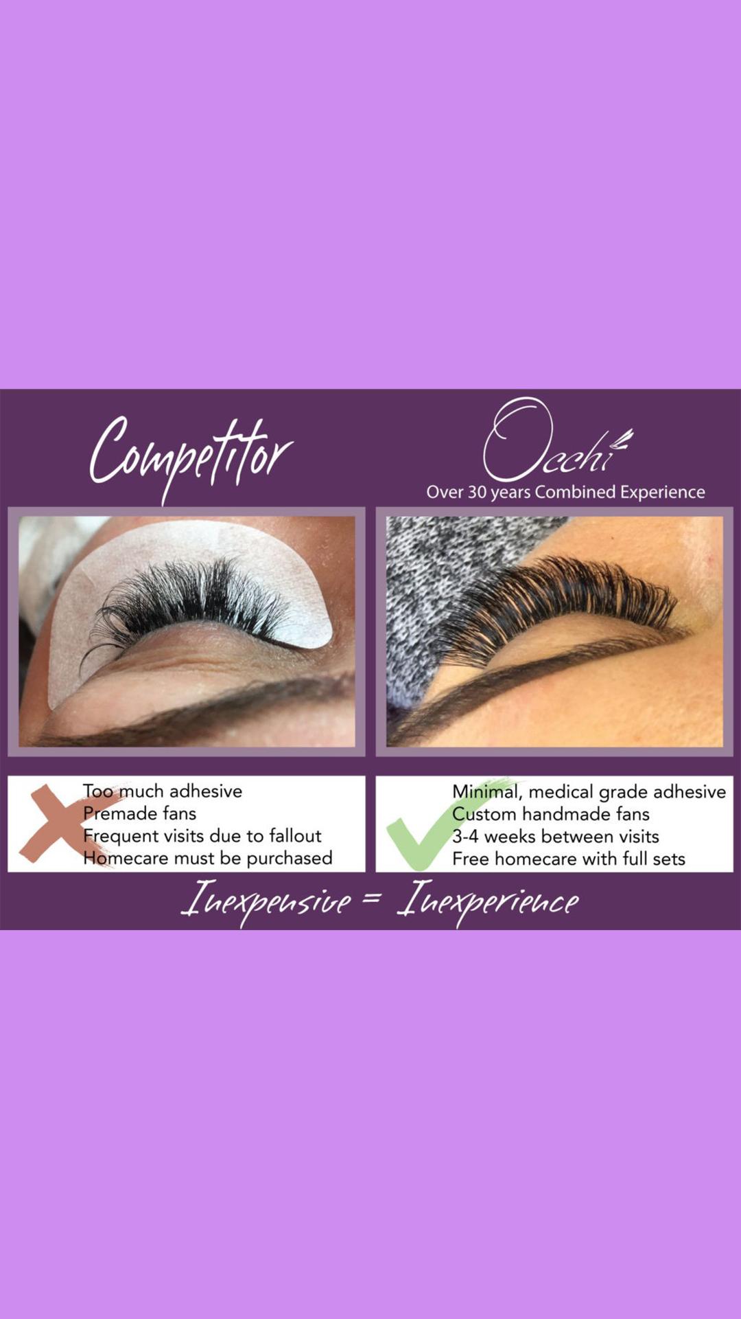 0bd1a86c66b Beware of inexpensive Lashes — Occhi Lash & Brow