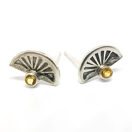 4a5b18b41 Sun God Studs- Tiny Handmade Sterling Silver Studs with Semi-Precious  Stones tiny gemstone stud earrings handmade