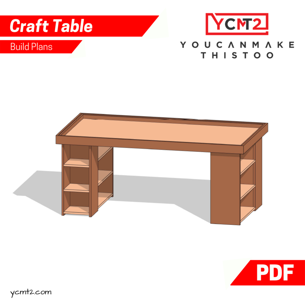How To Make A Craft Table With A Seascape Youcanmakethistoo