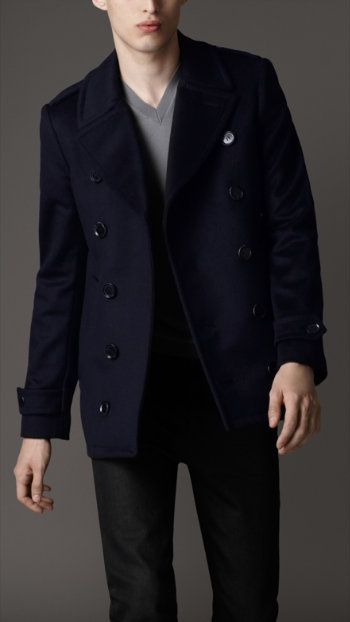 Burberry Men's Pea Coat