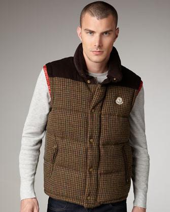 Moncler Ander Men's Houndstooth Vest