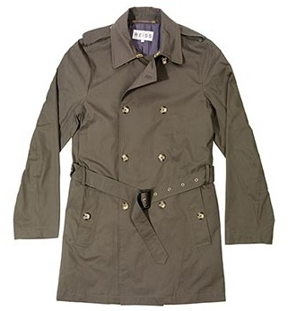 Reiss Men's Military Macintosh Coat