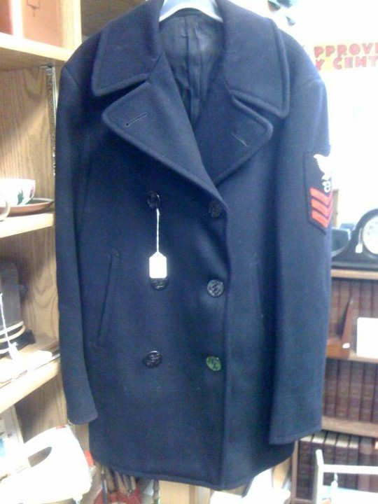 Vintage Men's Military Peacoat