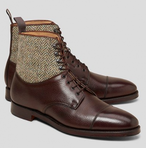 Peal & Co. Leather and Tweed Men's Boot