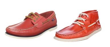 Red men's deck shoes