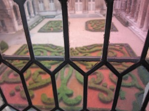 Looking out the window of the Musée Carnavalet