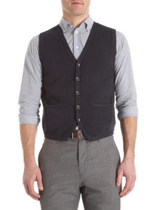 men's style: knit vest