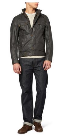 men's style: waxed jacket