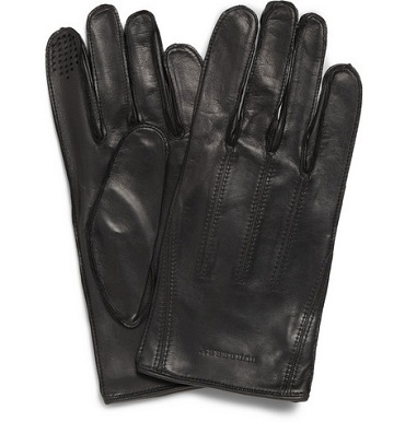 Men's Style: Burberry Touch Screen Leather Gloves