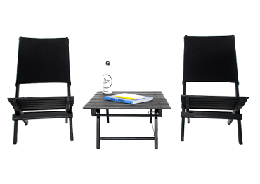 Men's Style: Folding Beach Chairs and Table
