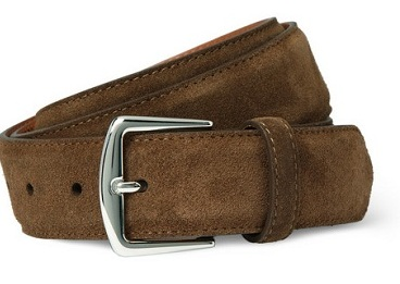 Men's Style: Loro Piana Suede Belt