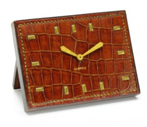 Father's Day Gifts 2014: Vintage Hermes Crocodile Clock