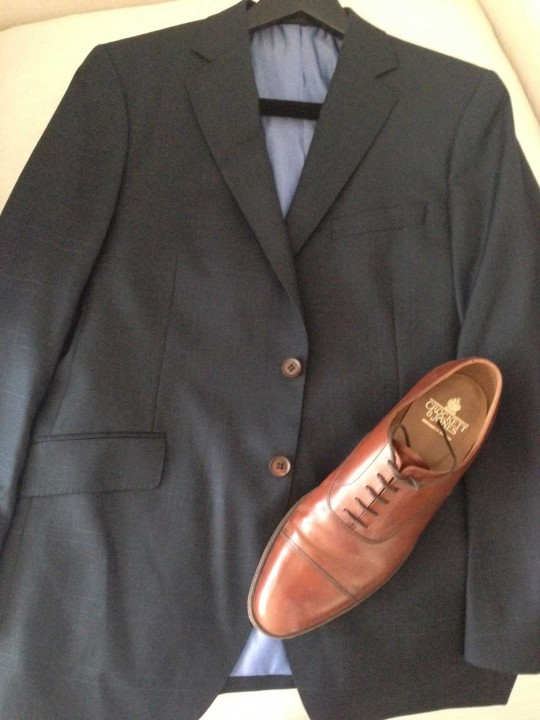 Men's Executive Image Consultant: Brown Buttons Work with Brown Shoes