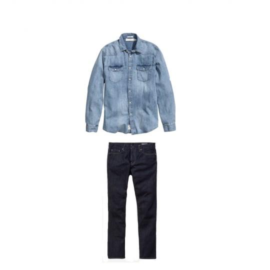 men's style: denim shirt