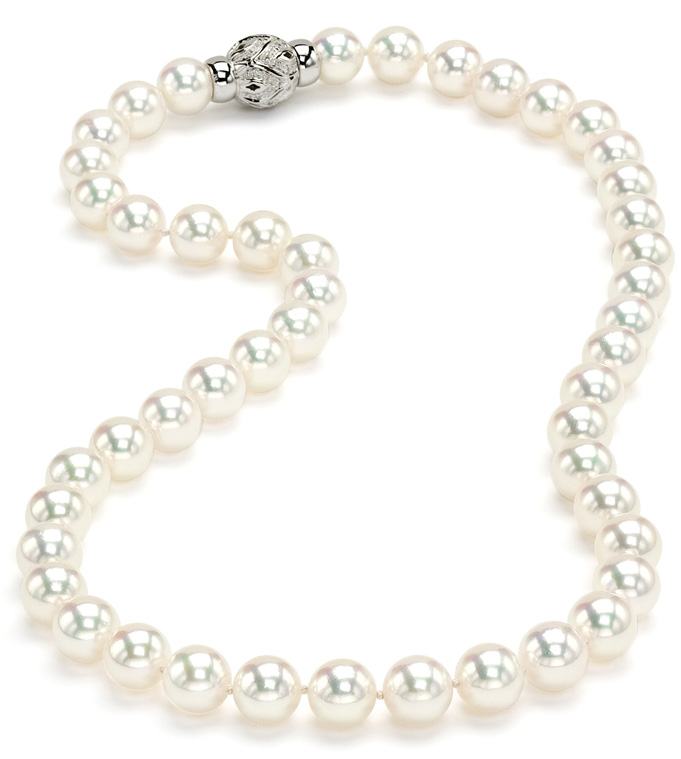 Japanese beads of water fresh. Tahitian Necklace Dawn with genuine pearls