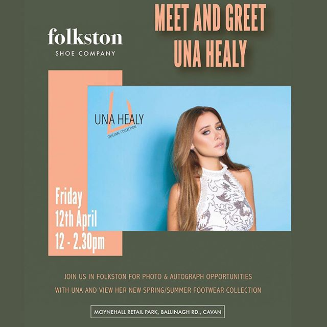 To celebrate my new Spring/Summer @unahealyoriginalcollection, I'll be heading to @folkstonshoecompany in Cavan on Friday from 12.30pm and @greenes_shoes Limerick from 2pm on Saturday. See you there! 🇮🇪