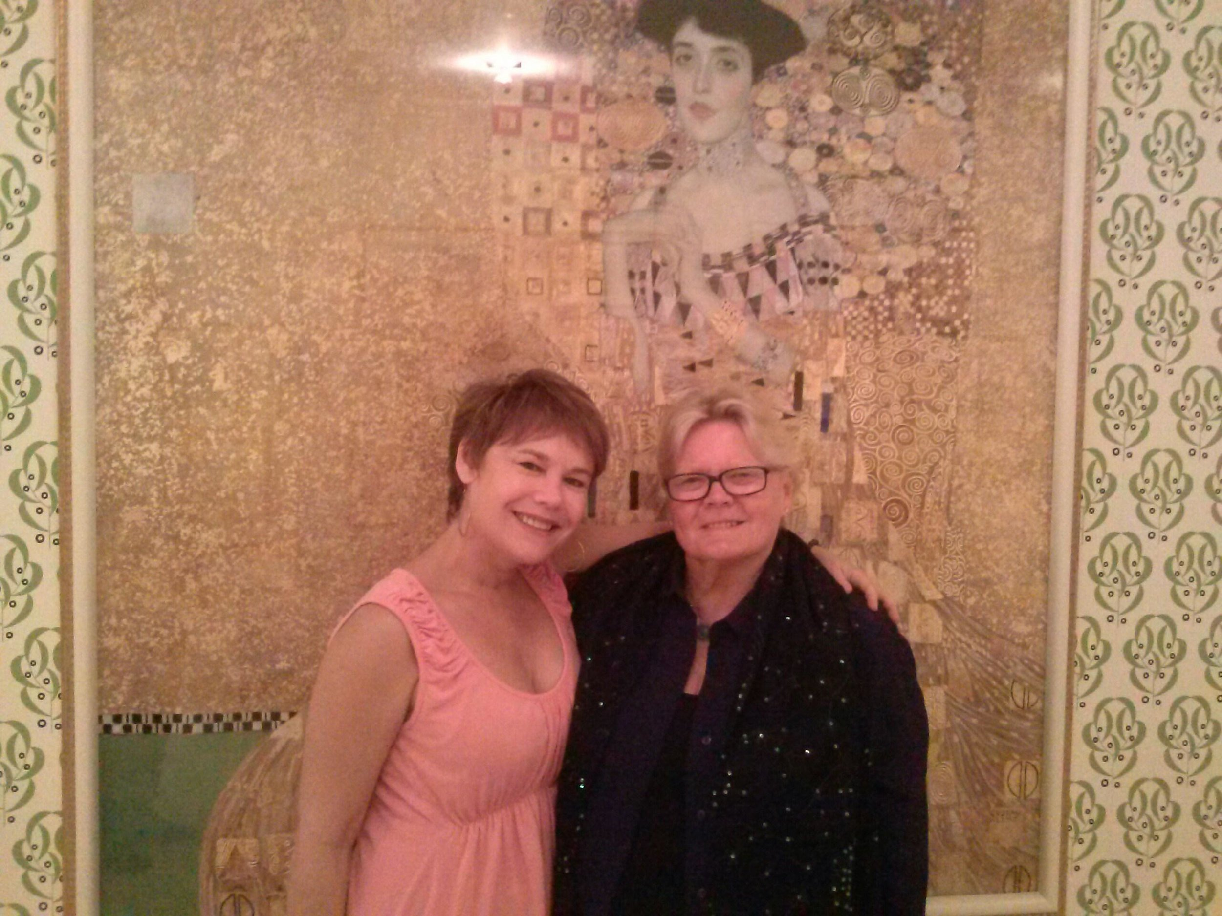 Beau and I at the Neue Galerie in front of Klimt's Woman in Gold.