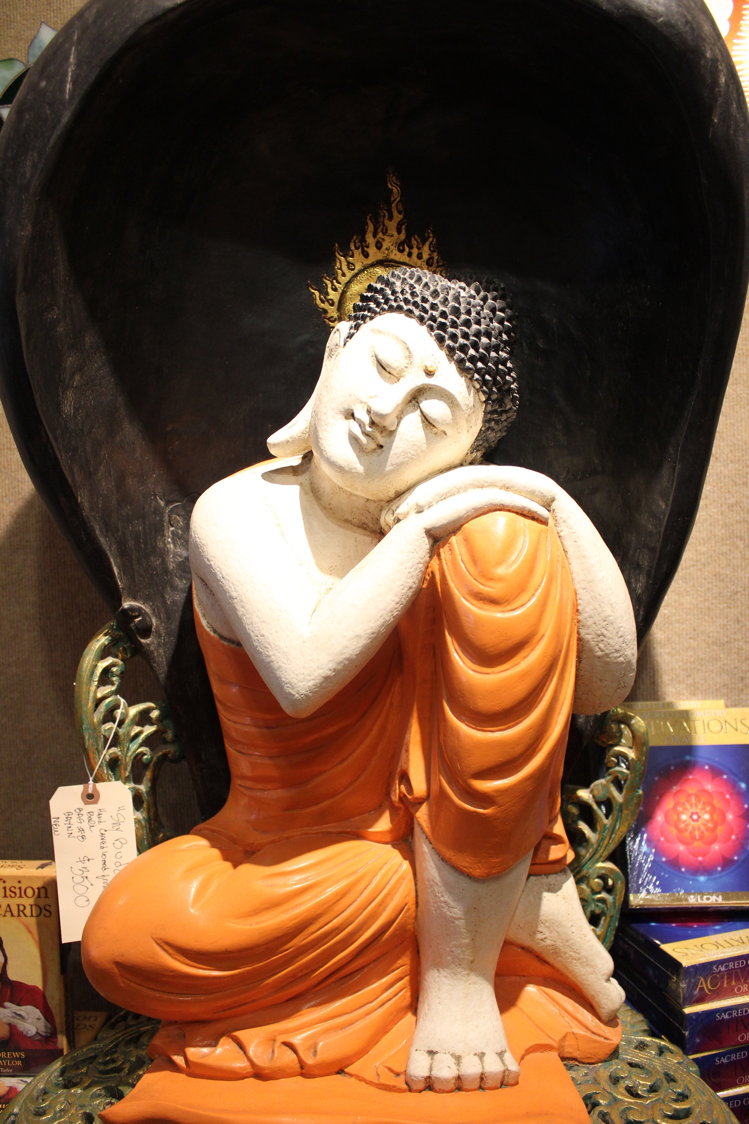 orange buddha